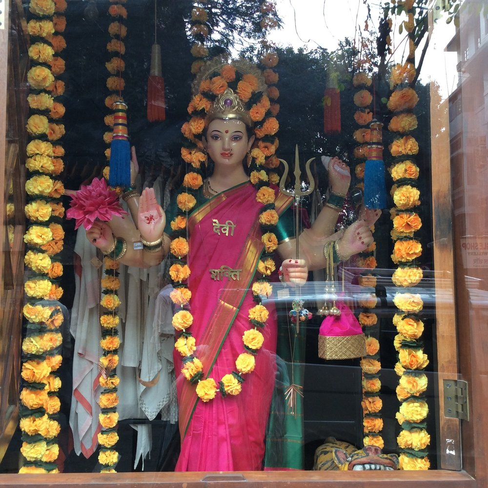 Maa Lakshmi: The Hindu Goddess of Prosperity.  Unafraid to wear pink!
