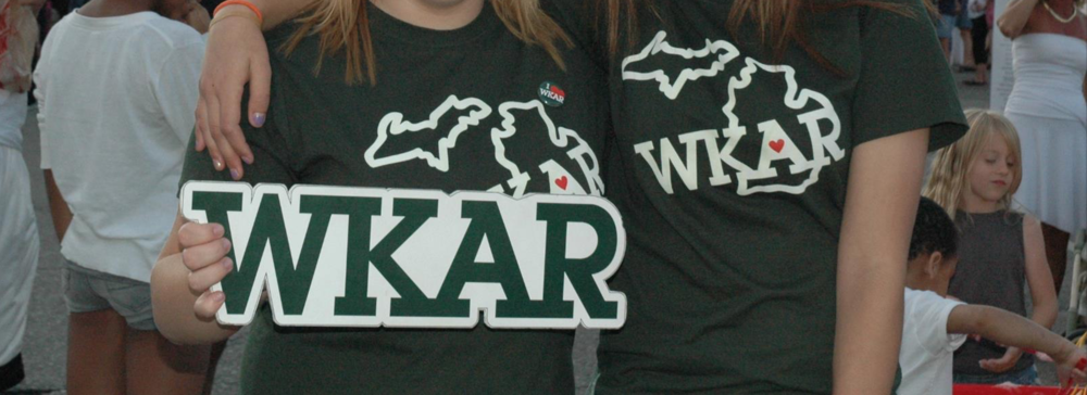 WKAR swag designed with care. Who doesn't love designing t-shirts?!