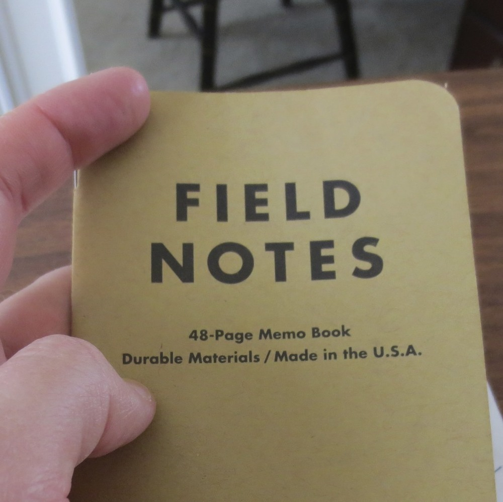 Nothing fancy here.  Field Notes Craft Paper, Ruled with lines.