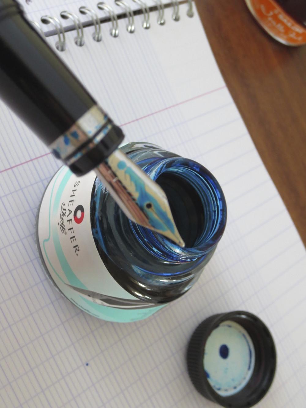 Omas 360 Nib and Turquoise