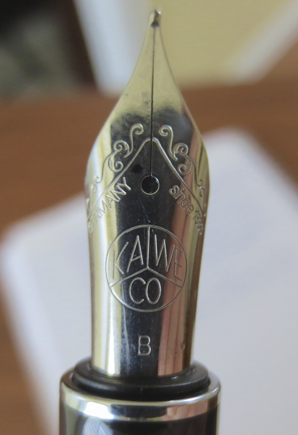 A nice, high quality, stainless steel German broad nib.
