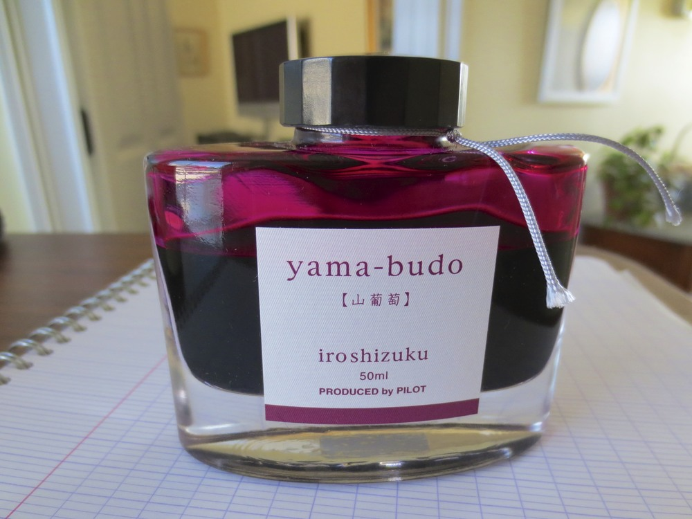 The Iroshizuku line of ink uses one of my favorite bottles.  The bottle itself contains a depression in the bottom to make it easier to fill a pen when the ink level gets low.