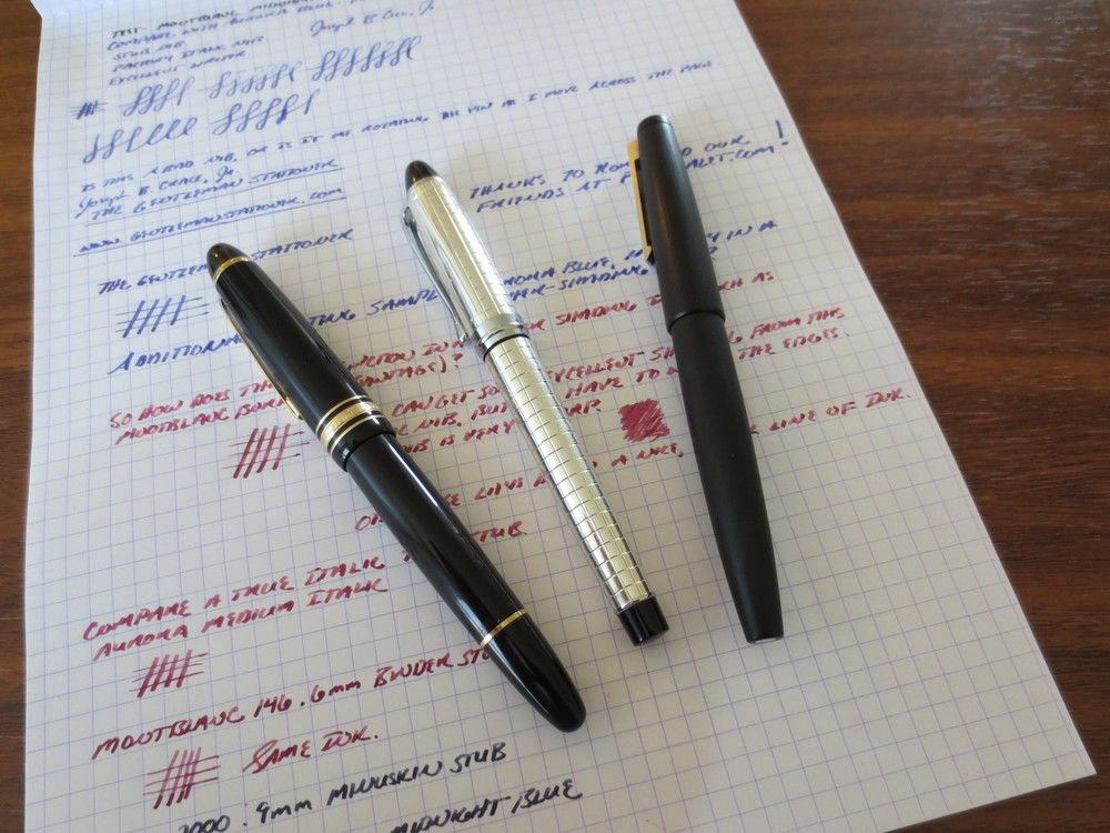 Size Comparison with MB 146 and Lamy 2000