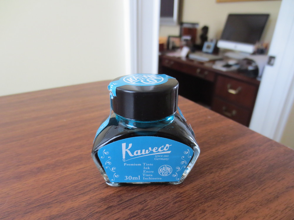 As good as the ink is, I do wish that Kaweco would increase the size of their bottle.  As of now, the ink is fairly pricey, at $19 for 30 ml of ink.