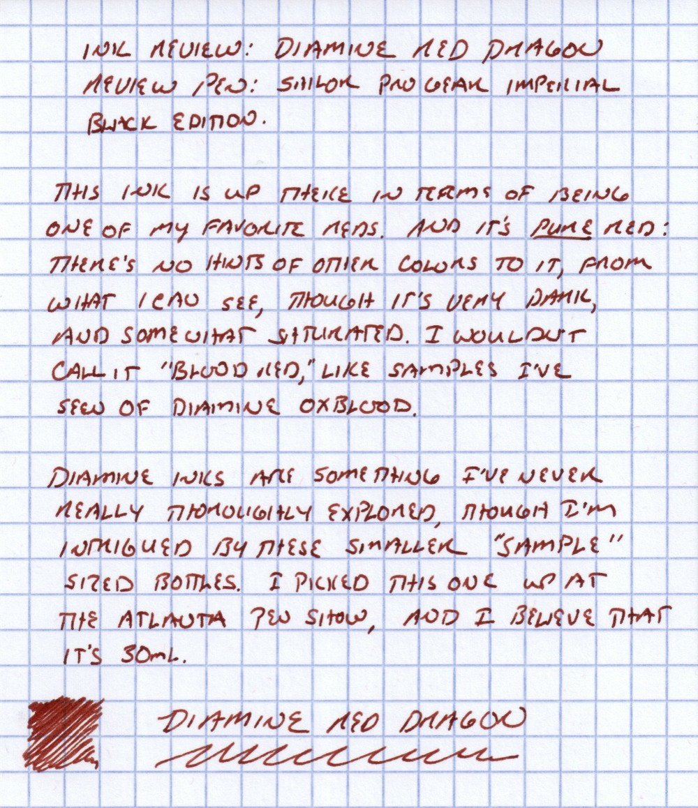 Diamine Red Dragon Handwritten Review