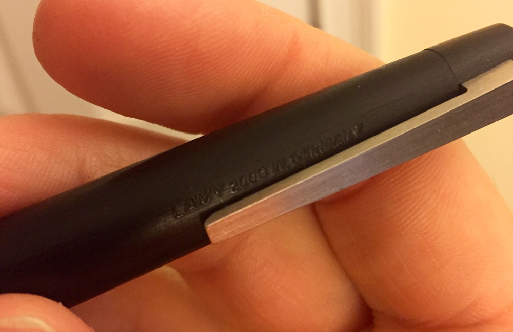 "Legible barrel imprint reads ""Lamy 2000 W. Germany.""  The oldest the pen could be is early 1990s."