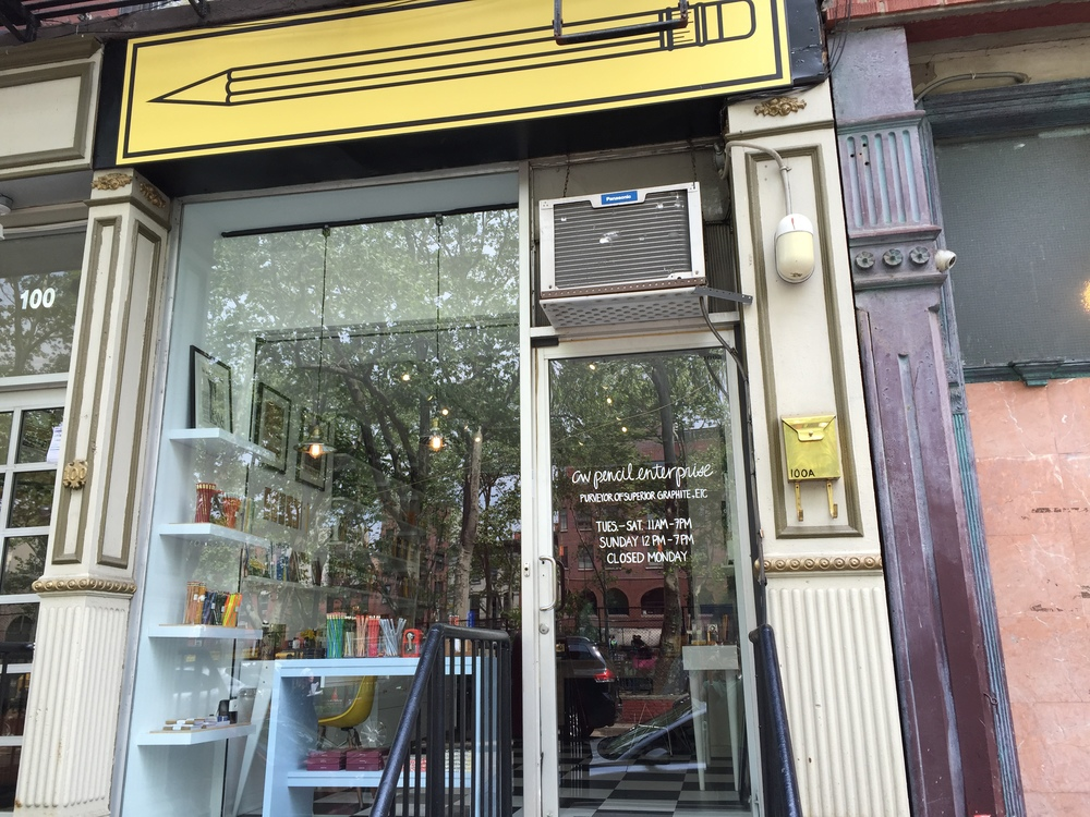 CW Pencil Enterprise is located on Forsyth Street on the Lower East Side.