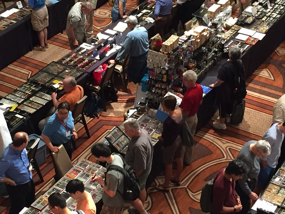 Anderson Pens was busy all day.  This year I think they had four or five tables at the show.