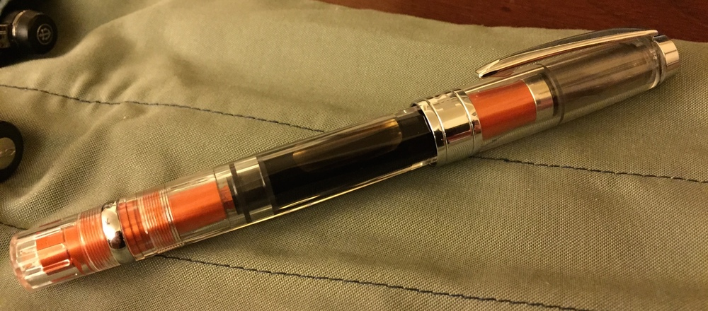 My TWSBI 580AL in orange, which now sports a Masuyama Architect's nib.