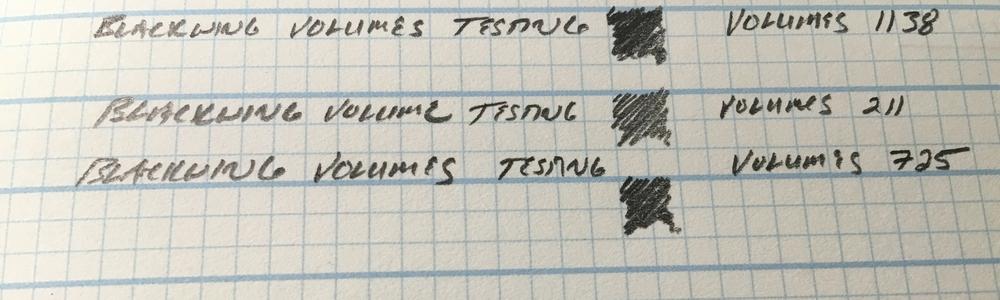 Blackwing Volumes Writing Sample