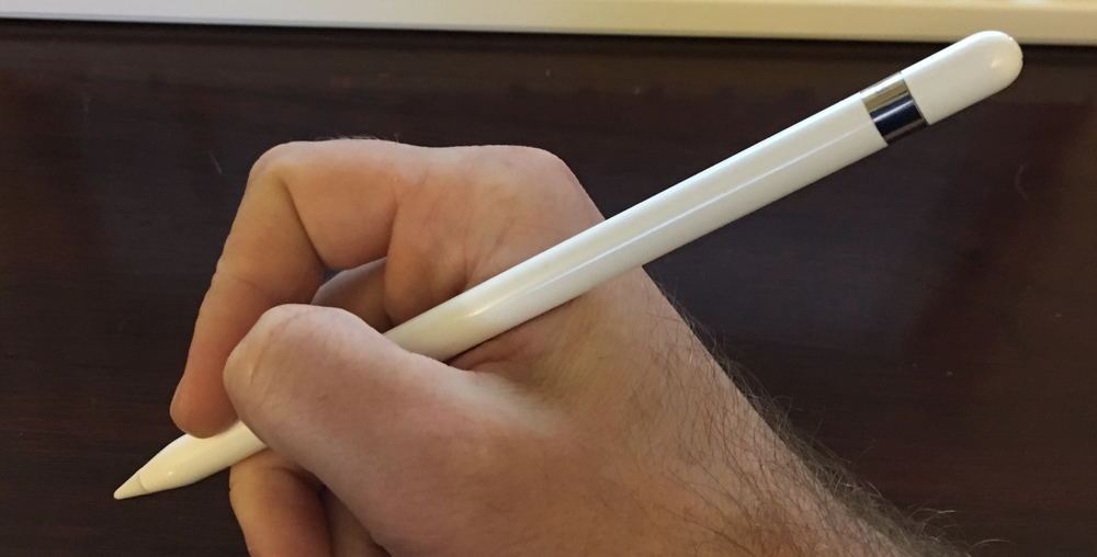 The Apple Pencil is well-balanced--about the length of a woodcase pencil that's been sharpened two or three times--making it a very comfortable length for writing.  Myke Hurley wrote an excellent piece for The Pen Addict, in which he discusses the construction and build of the Pencil in more detail.