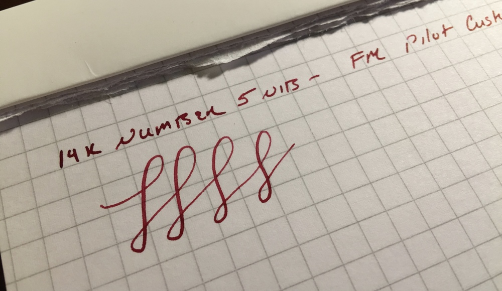 "You can definitely squeeze some line variation out of the Pilot FM nib--it's not a nail--but I wouldn't call it ""flex"" or even ""semi-flex."""