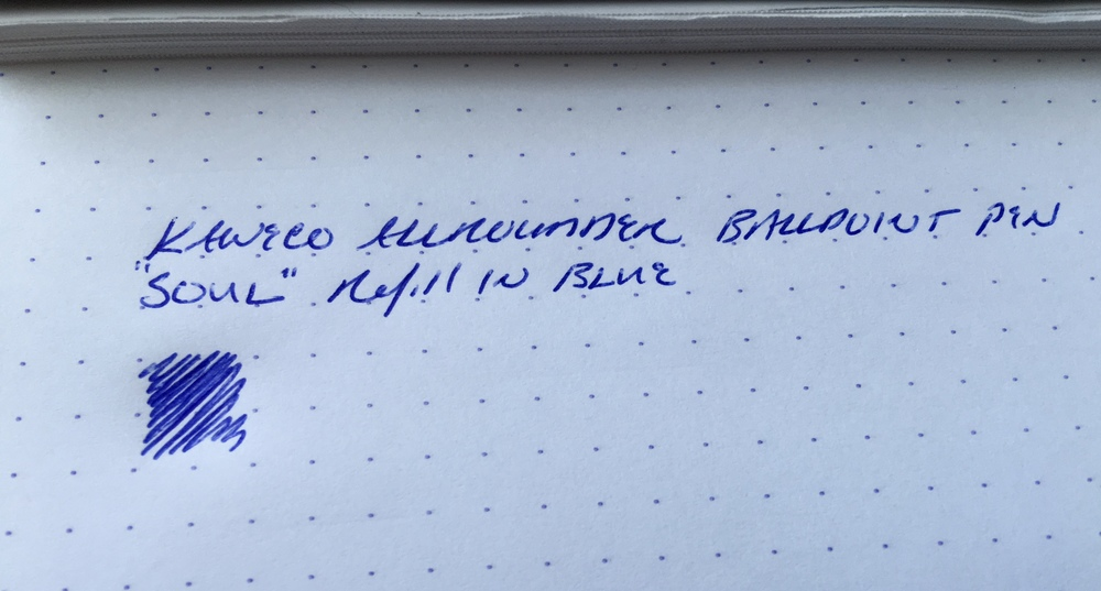 Kaweco Allrounder ballpoint writing sample