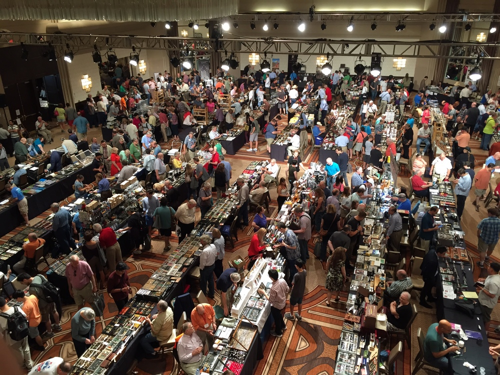 I know I've used this picture before, but it's a great shot of the D.C. Pen Show Insanity.