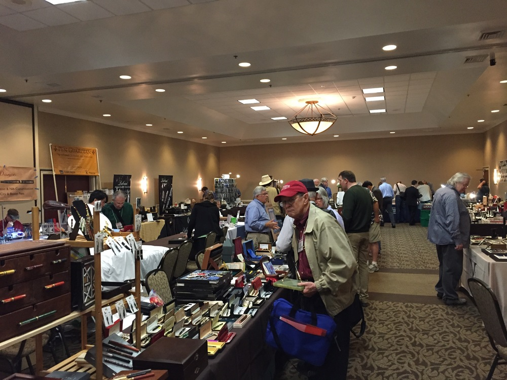 Inside the hotel ballroom at the 2015 Atlanta Pen Show (before things really got going). Atlanta generally is a smaller show, but this year they expect a bigger crowd.