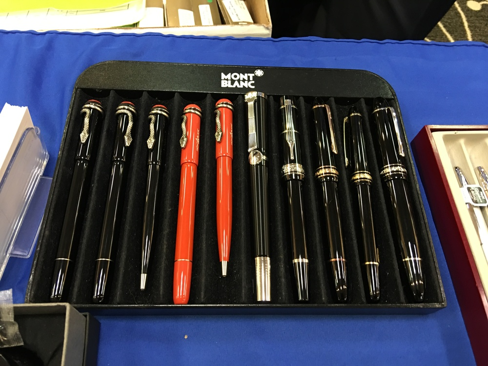 The Montblanc Rouge et Noir pens that everyone wanted to see.