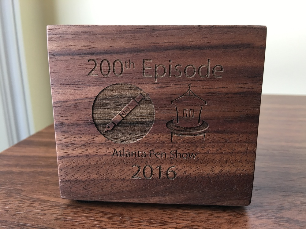 My 200th Episode/Atlanta Pen Show Commemorative Dudek Cube.