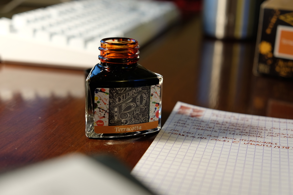 Diamine Terracotta is an excellent ink.  Check out my review over at Bottledup.ink.