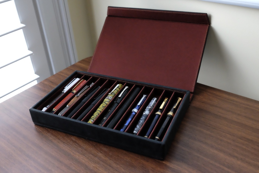 "The Franklin-Christoph Covered Pen Tray in ""Slotter Box"" Mode"