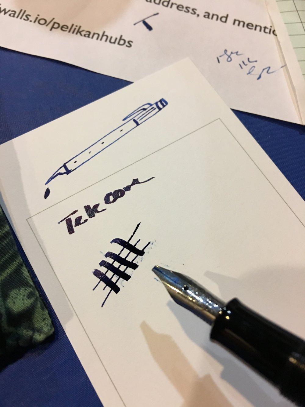Pelikan 1.5mm Writing Sample