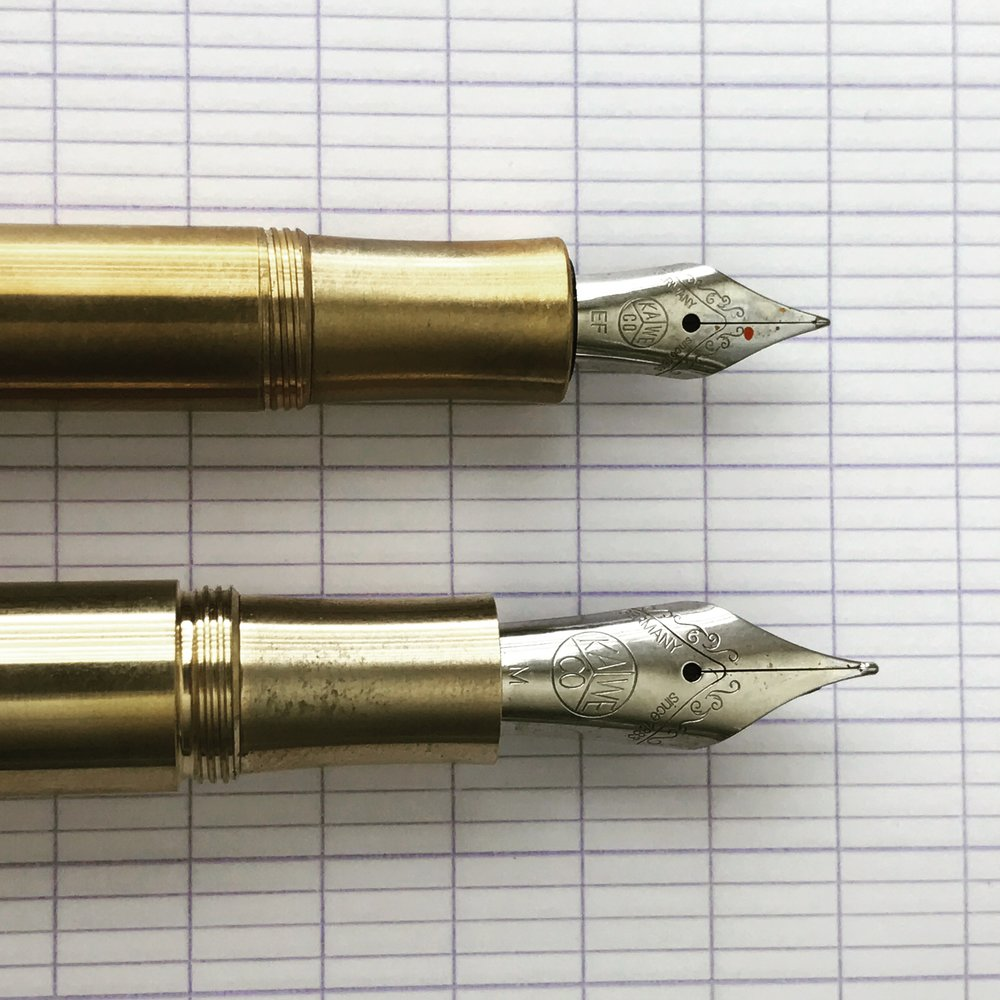 The thing that I really like about the Kaweco Supra is that it uses a larger #6 nib. The bigger Kaweco nib is much smoother and has better flow than the #4 nibs used in the Sport series.