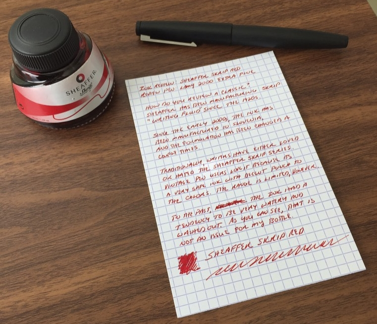 "What's the winner in the ""Best Ink for Editing / Annotation category? I'm partial to Sheaffer Skrip Red, a highly underrated ink."