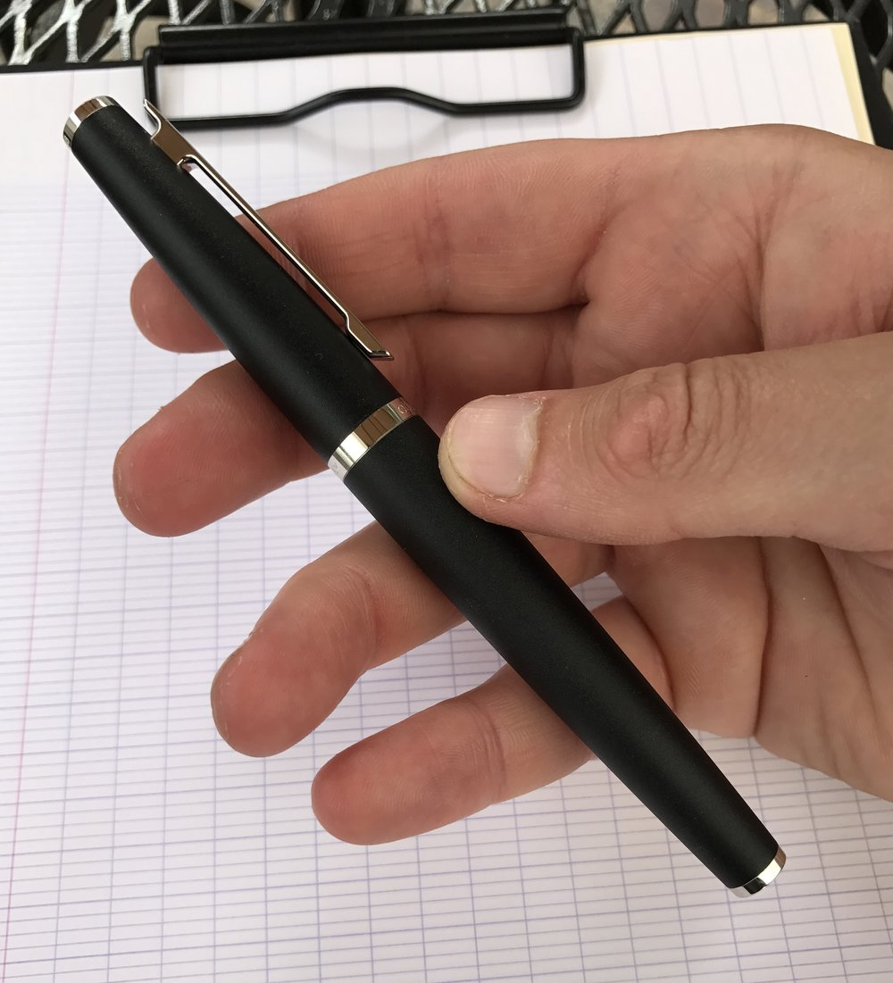 The pen's compact design and good balance helps offset the weight of the metal construction.
