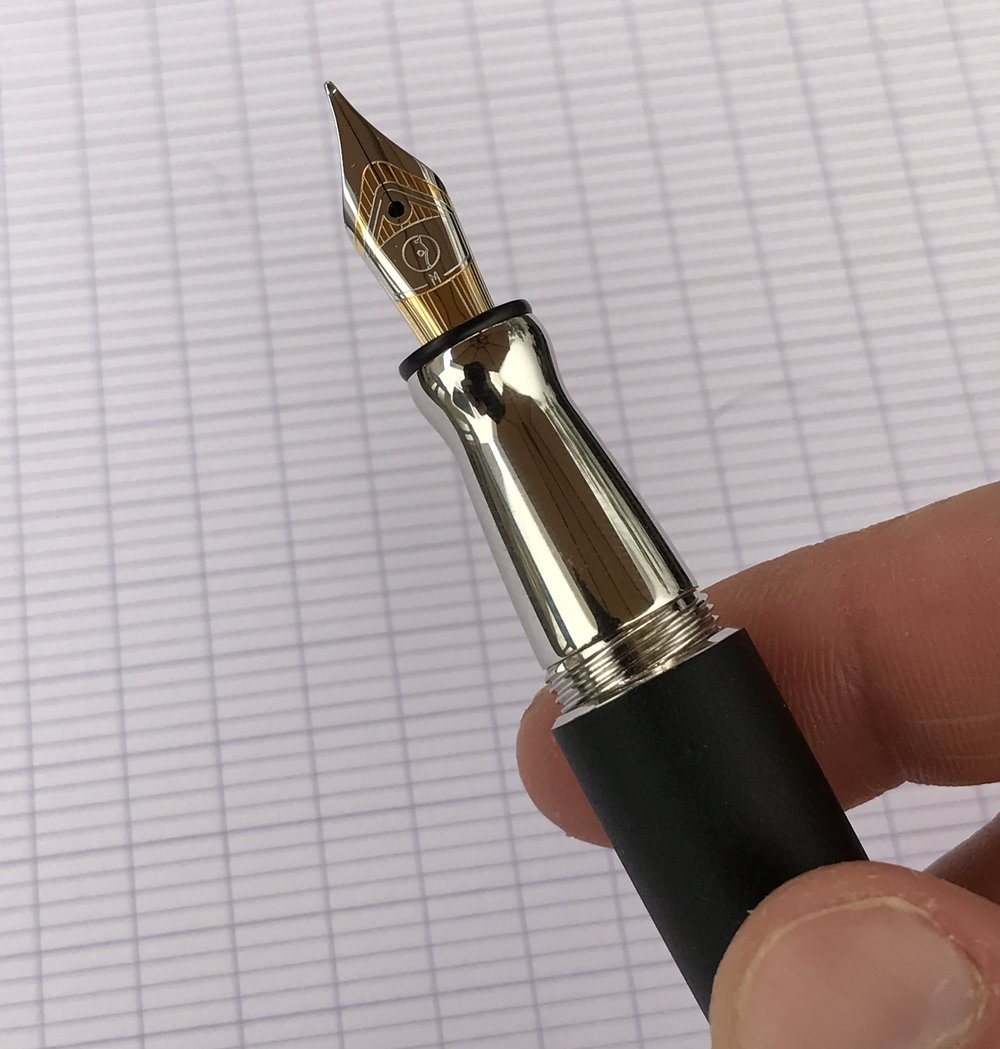 "There is a bit of a ""step-down"" from the barrel to the section, but since I tend to grip my pen towards the front (i.e., at the nib-end of the section), the step didn't bother me."