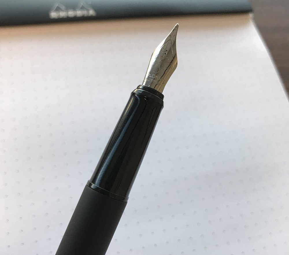 The Esteem shares the same stainless steel nib as the Aero, but the plastic section...I'm not really a fan.