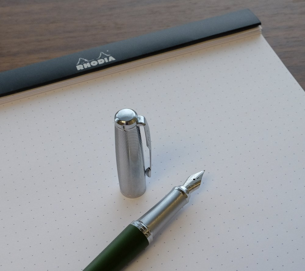 The textured cap and a brushed metal section lend the new Parker Urban Premiere a classy look. I just wish the price point were slightly lower.