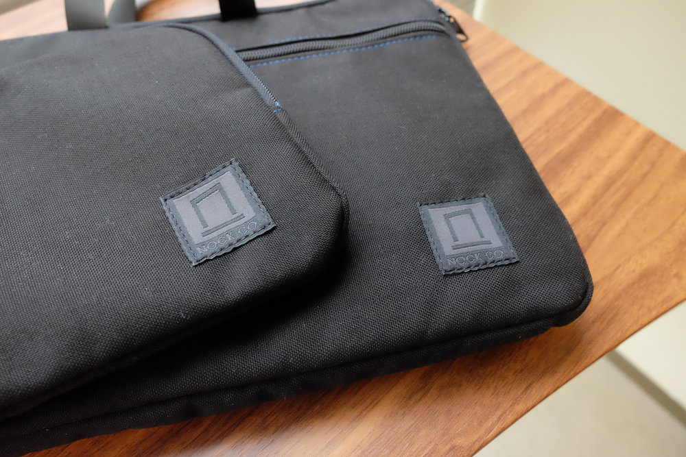 "The Nock Co. Lanier briefcase in black. Check out the new ""blackout"" Nock logo!"
