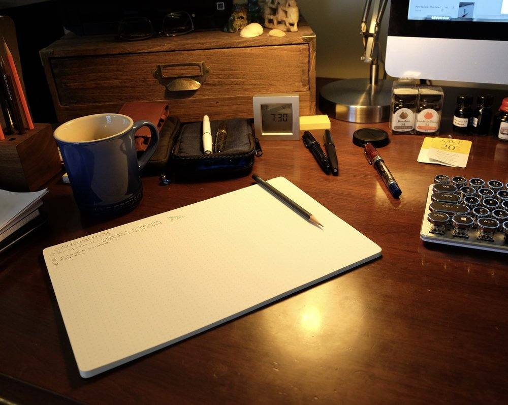 notonthehighstreet leather writing original com mat protector product life pad by personalised desk of riley lifeofriley