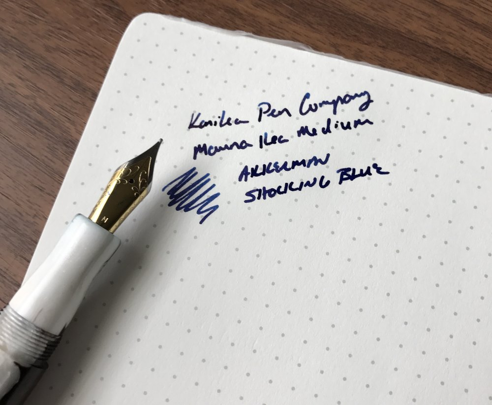 Kanilea Mauna Kea Nib and Writing Sample