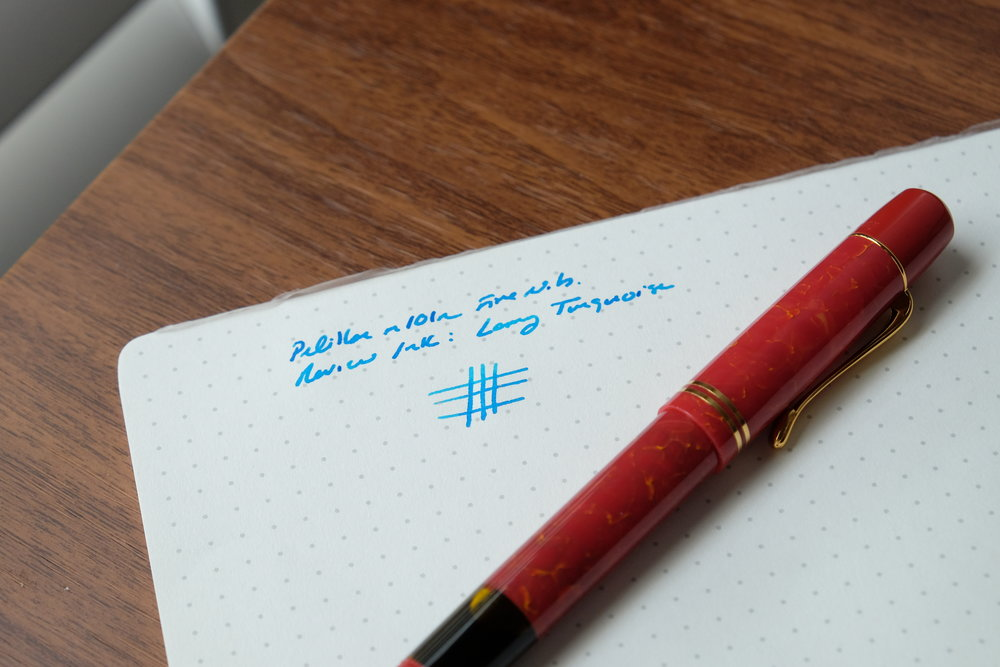 Pelikan M101N Writing Sample (Fine Nib)