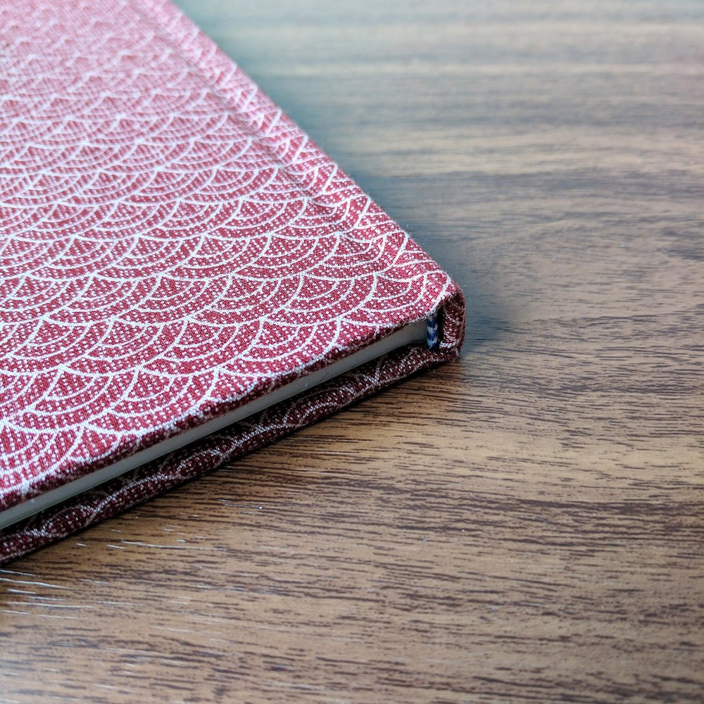 Each Musubi notebook features a hand-sewn binding.