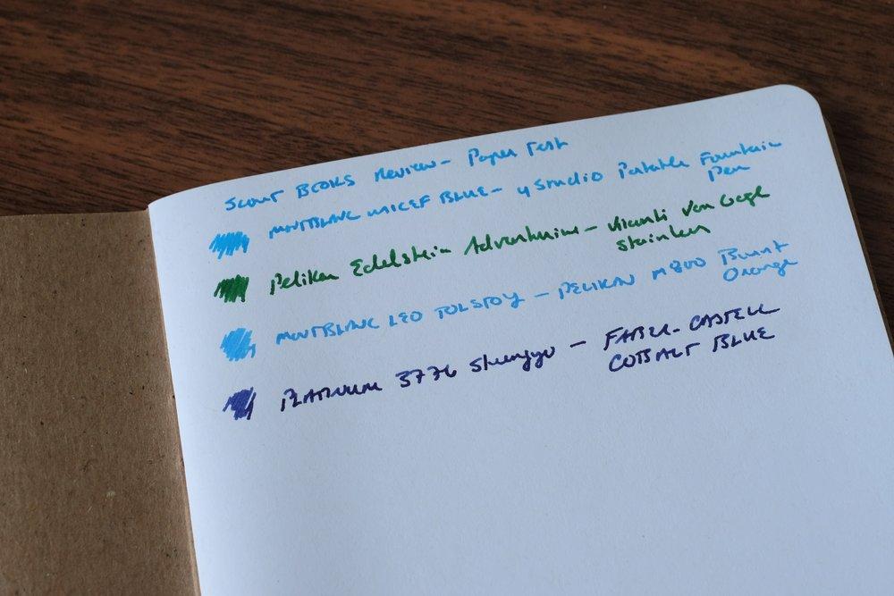 Fountain Pen Writing Sample