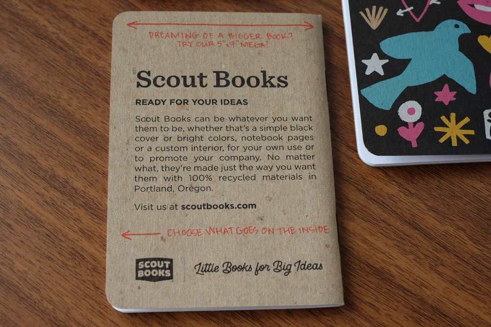 A large part of Scout Books' business involves custom printing. If you want to custom design your own notebooks, or print a small-format book,  Scout Books has various options available .