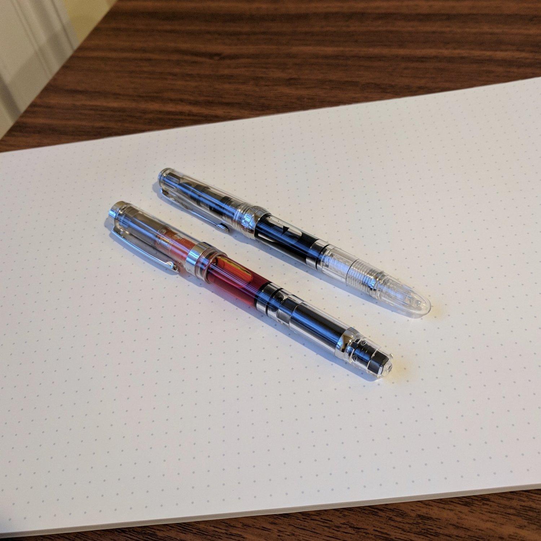 Old Stock Wing Sung 2000 Fountain Pen Fine Nib Aerometric Pen 1996S
