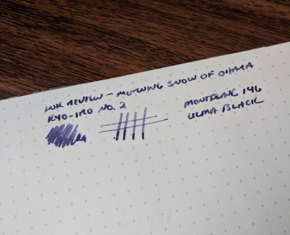 Kyo-iro-Morning-Snow-Writing-Sample