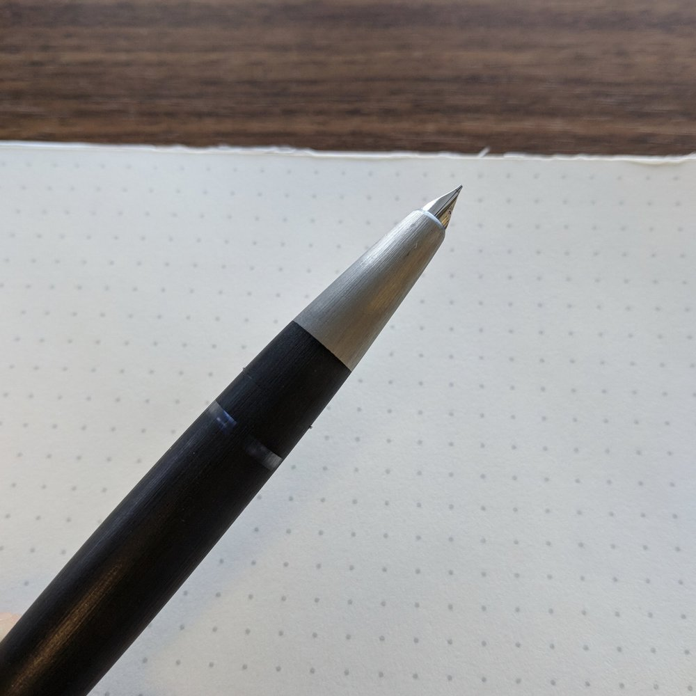 I find the 14k nib on the Lamy 2000 to be a pleasant writer, with a touch of bounce.