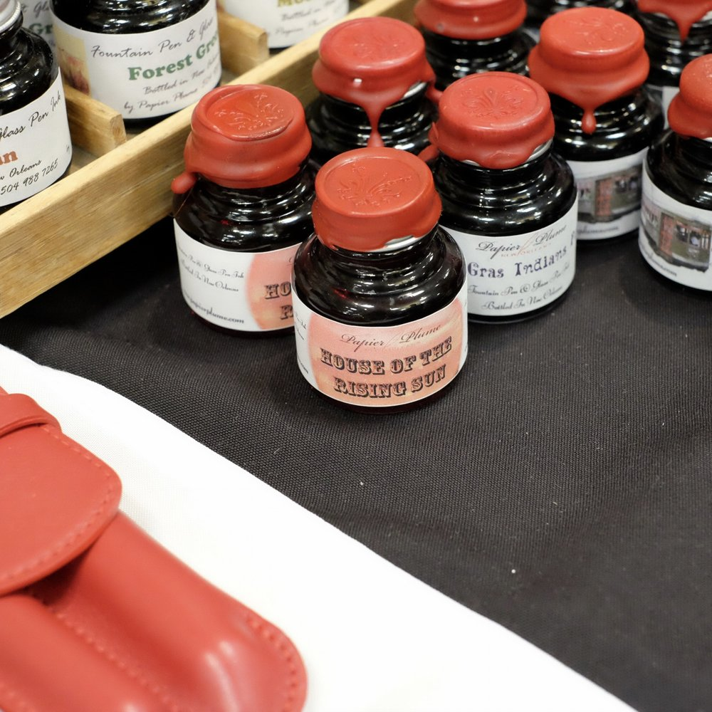 Papier Plume also launched a new ink in Atlanta:  House of the Rising Sun , a reddish orange! If there's any left I'll pick up a bottle on Sunday morning.