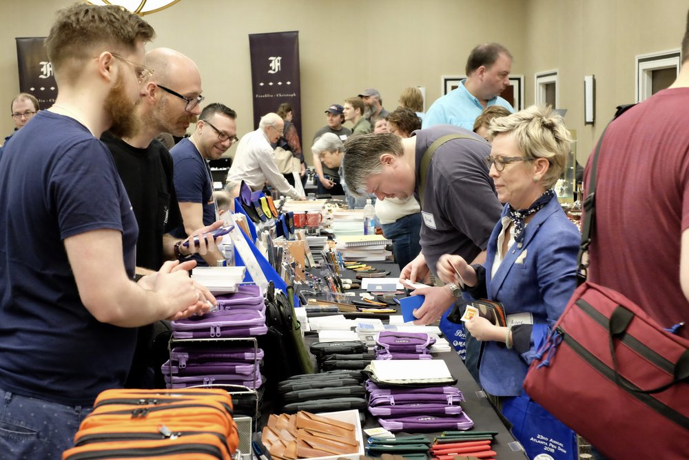 The Nock Co. table was busy all day, especially with the new Seed A5 case in stock.