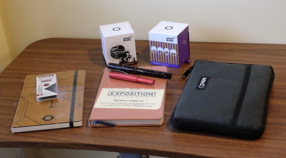 """My 2018 Atlanta Pen Show haul. You'll notice that not everything from my """"favorite things"""" list made it into my bag, which is definitely good (at least for my wallet)."""