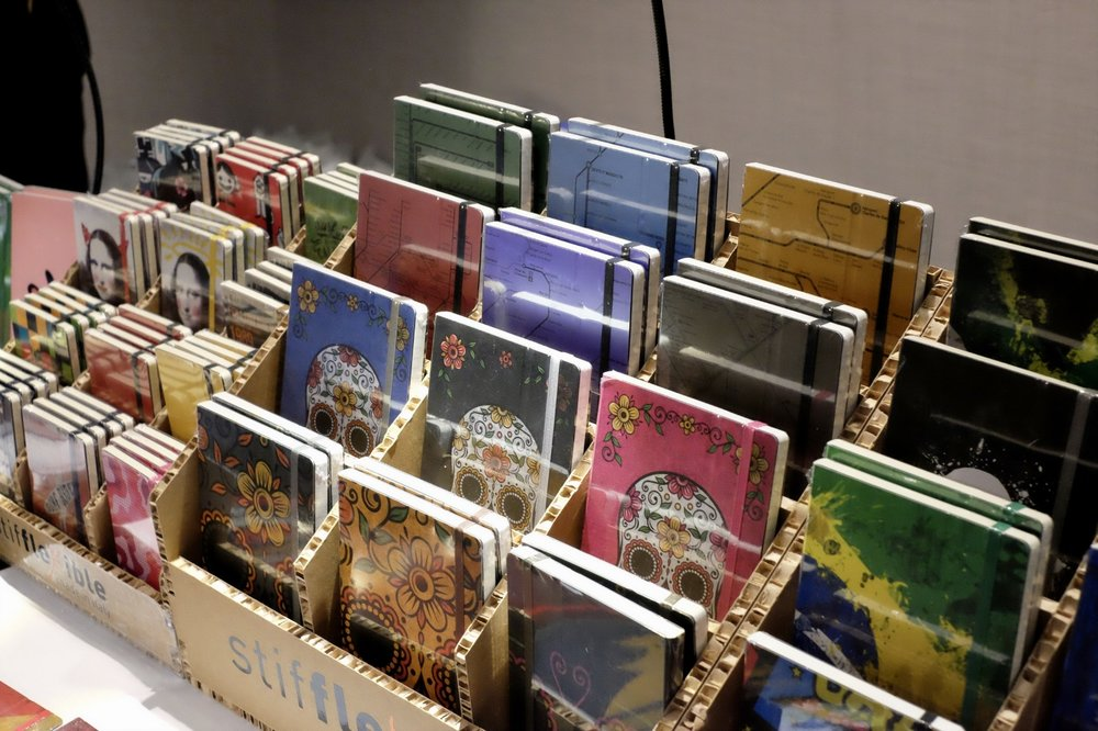 Be sure and use your pens, paper, and notebooks this week! (Pictured:  Stifflexible Notebooks  at the Atlanta Pen Show!)