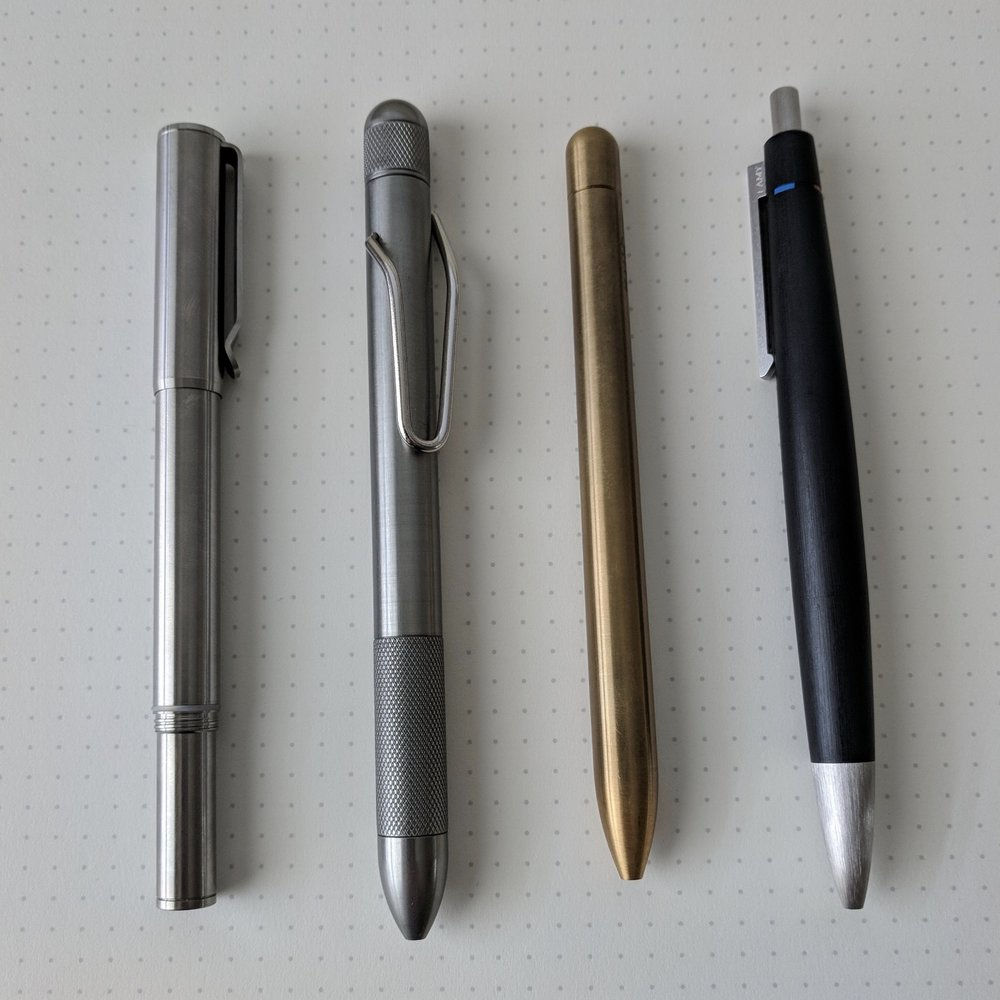 Top 5 or Top 4? Of course, when I need to photograph it, I realize that I left the Imperial Black Multipen sitting on my desk at work.