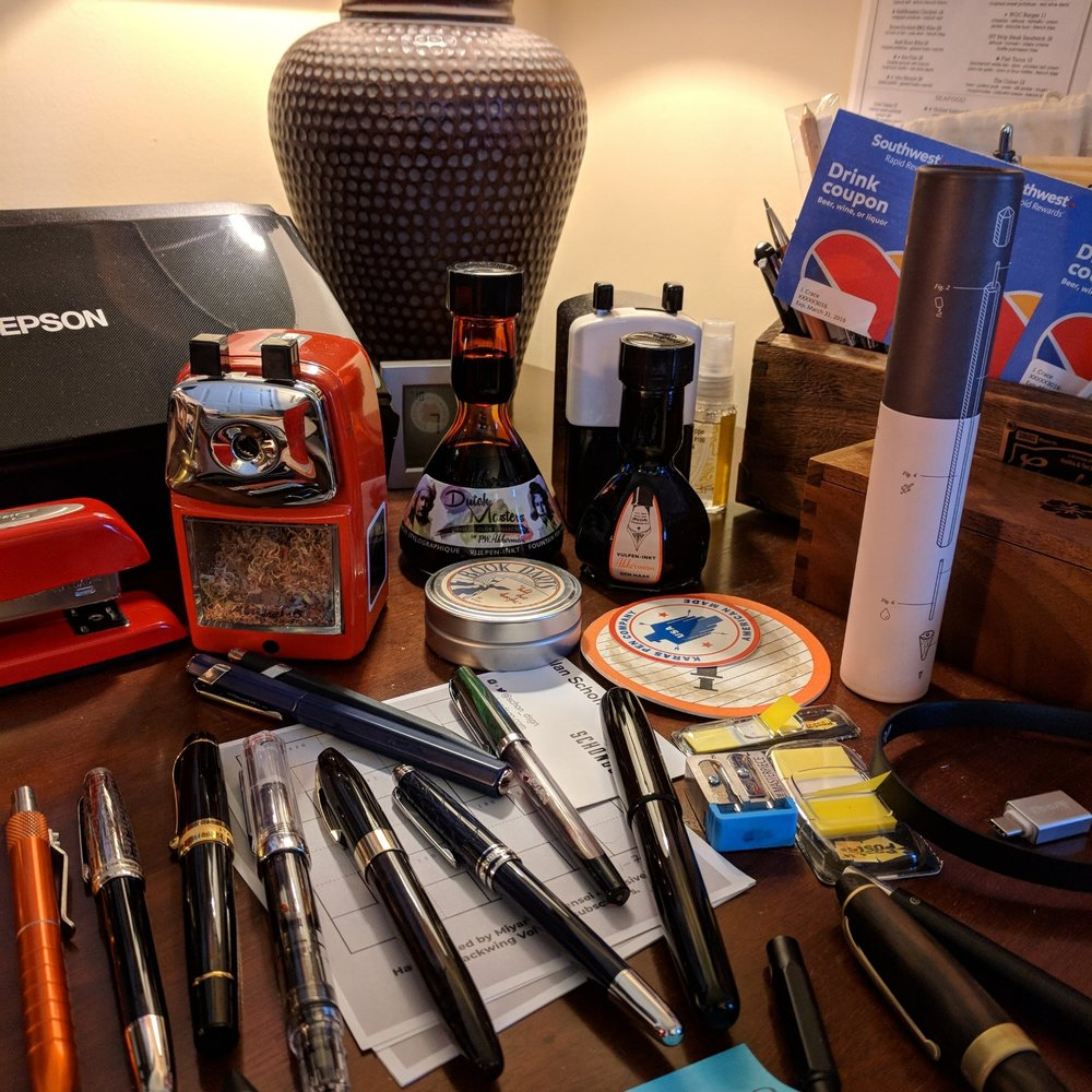 And, of course, the aftermath of this year's D.C. Pen Show, when you get home and unload your bag of things you bought and things you brought for show-and-tell.
