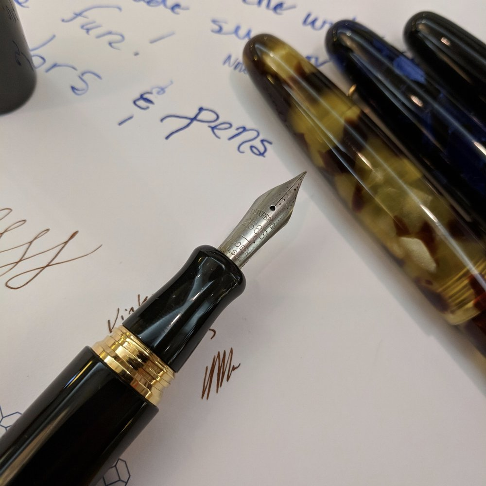 What's that?!? A vintage Esterbrook nib in the section of one of the new pens?