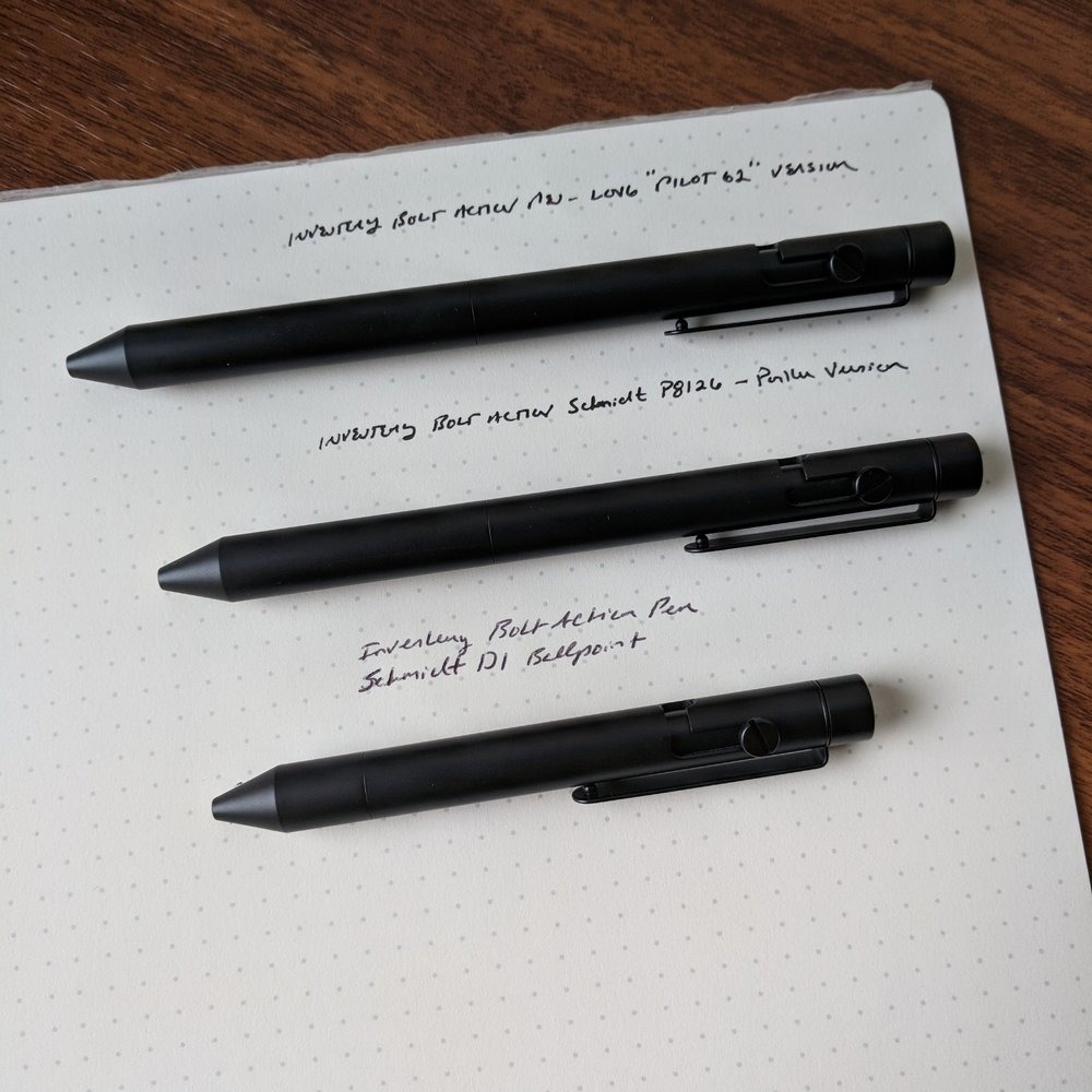 "Of the three available sizes (shown here in ""Onyx"" coated brass), I found the medium to be the most comfortable for the type of writing that I do. The large pen was slightly too large, and the Small/D1 pen was great for short jottings but not long sessions (unless you have small hands)."