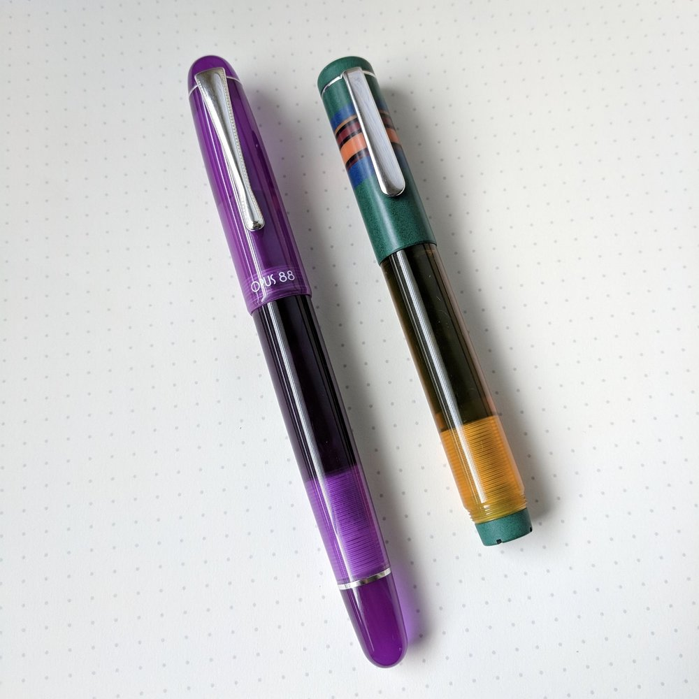 The Fantasia features a different clip than the Picnic and Koloro. I like it - it definitely matches the pen better and seems a bit more refined.