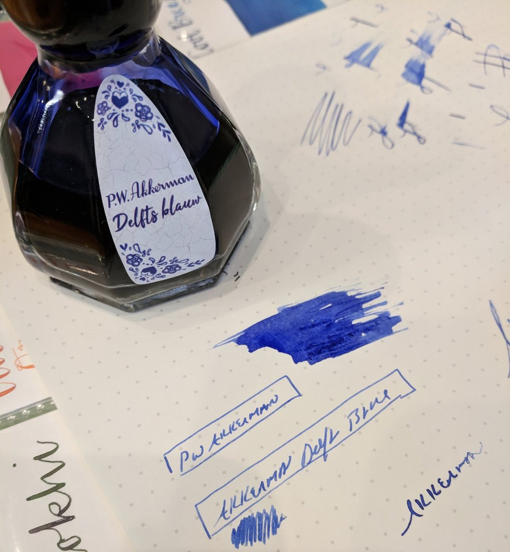 Looking for that blue that's the same color as Delfts pottery? Check out  this new limited edition release from Akkerman , available at Vanness Pens.